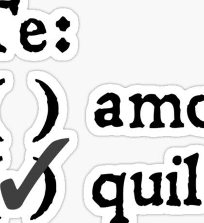 Te amo? Tequila. Sticker