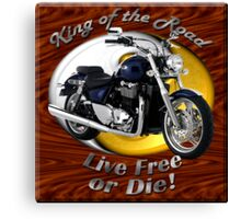 Triumph Thunderbird King Of The Road Canvas Print