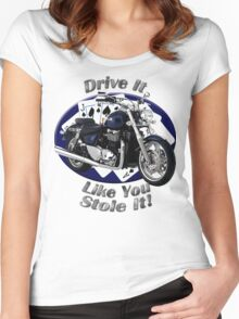 Triumph Thunderbird Drive It Like You Stole It Women's Fitted Scoop T-Shirt