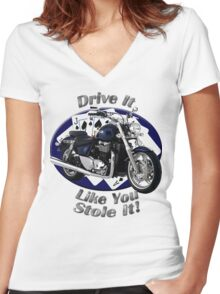 Triumph Thunderbird Drive It Like You Stole It Women's Fitted V-Neck T-Shirt