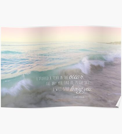 A Tear In The Ocean Poster