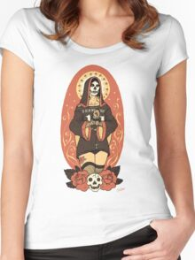 Santa Muerte Women's Fitted Scoop T-Shirt