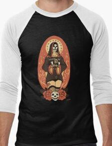 Santa Muerte Men's Baseball ¾ T-Shirt