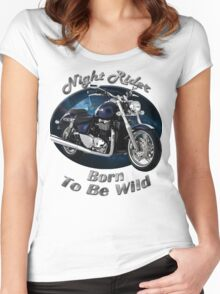 Triumph Thunderbird Night Rider Women's Fitted Scoop T-Shirt