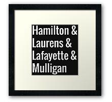 Hamilton Squad Framed Print