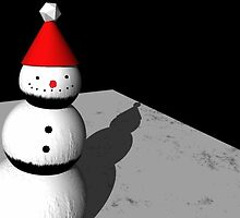 Lonely Snowman by talkintothemoon