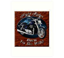 Triumph Thunderbird Night Rider Art Print