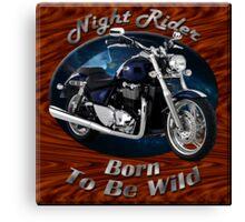 Triumph Thunderbird Night Rider Canvas Print