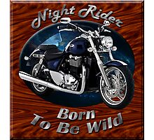 Triumph Thunderbird Night Rider Photographic Print