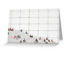 Le Grande Arche steps Paris  Greeting Card