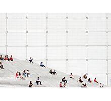 Le Grande Arche steps Paris  Photographic Print