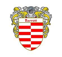 Barrett Coat of Arms/Family Crest Photographic Print