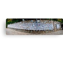 The Wishing Wall Panorama Canvas Print