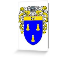 Bell Coat of Arms/Family Crest Greeting Card