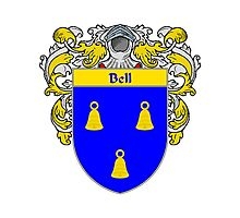 Bell Coat of Arms/Family Crest Photographic Print