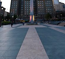 Union Square Vertical Panorama by Lewis Gardner Photography