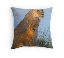 A cosy mother and child! Throw Pillow