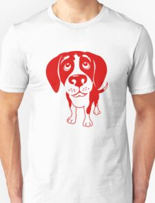 Red Beagle Retro T-shirt- original art T-Shirt