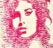 Amy Winehouse Kiss Art by settyduncan