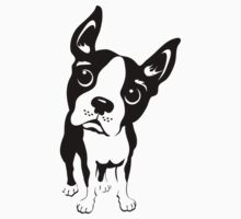 Boston Terrier Dog T-shirt design  by DKMurphy