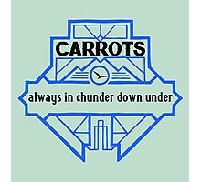 Carrots - Always in Chunder Down Under Photographic Print