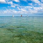 Anchored off Moreton Island by Renee Hubbard Fine Art Photography