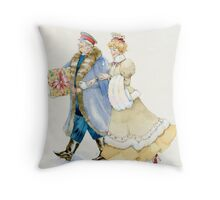 General and lady walk Throw Pillow