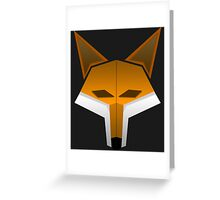 JordanTheFox- Fox Head Greeting Card
