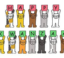 Happy Kwanzaa with cats by KateTaylor