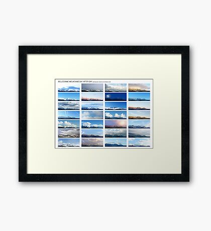 Belledonne day after day, a motionless voyage (white version) Framed Print