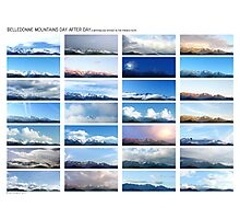 Belledonne day after day, a motionless voyage (white version) Photographic Print
