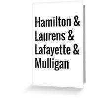 Hamilton Squad - White Greeting Card