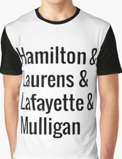 Hamilton Squad - White Graphic T-Shirt