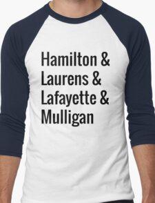 Hamilton Squad - White Men's Baseball ¾ T-Shirt