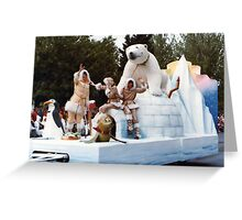 No.3, Polar Bear float 1980's Adelaide Christmas Pageant Greeting Card