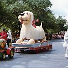 No.5, White Dog 1980's Adelaide Christmas Pageant by Heather Dart