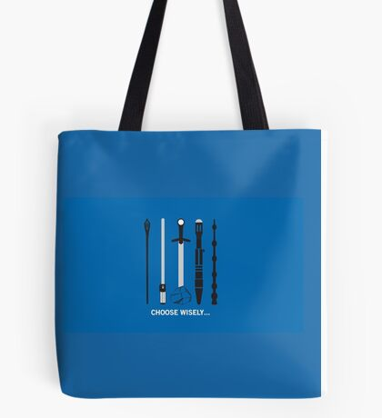 Choose Wisely Fandom Weapons Tote Bag
