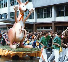 No.7, Kangaroo and Joey 1980's Adelaide Christmas Pageant by Heather Dart