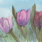 Three Tulips  by PamelaMeredith