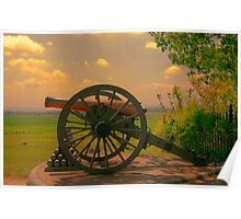 Civil War Cannon at Gettysburg Poster
