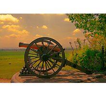 Civil War Cannon at Gettysburg Photographic Print