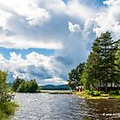 Swedish Lake and Clouds by Michael Brewer