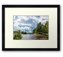 Swedish Lake and Clouds Framed Print