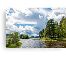 Swedish Lake and Clouds Canvas Print
