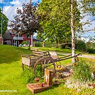 Wooden Carriage and Swedish Farmhouse by Michael Brewer