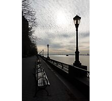 A Quiet, Peaceful Esplanade - New York City, Hudson River Photographic Print