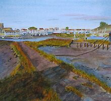 Evening shadows, Shoreham by John Rees by HurstPainters
