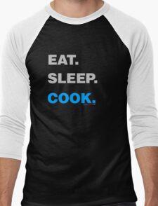 Eat Sleep Cook Men's Baseball ¾ T-Shirt