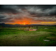 Clarence overflow oxbow sunset, Tabulam NSW Photographic Print