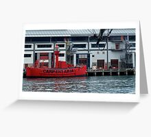 Red tender; Darling Harbour Greeting Card